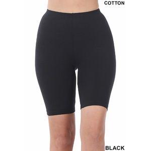 Black Premium Cotton Plus Size Biker Bike Shorts